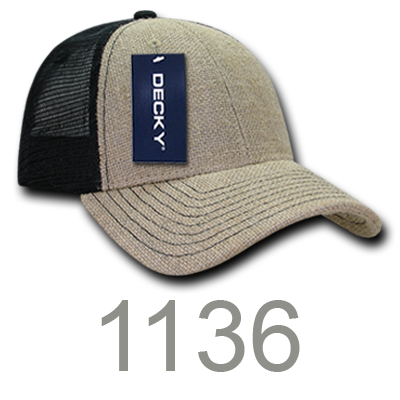 2d3d97b9800a9 1133. 7 Panel Trucker Caps. 1136 - Low Crown Jute Trucker Caps