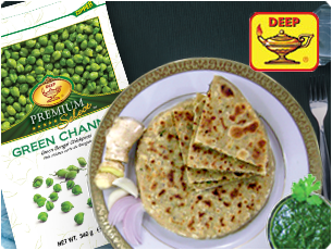 Stuff Green Chana Paratha