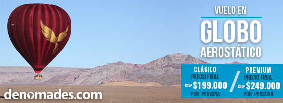 banner vuelo en globo por San Pedro de Atacama