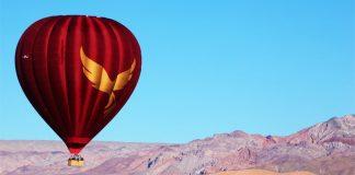 Vuelo de globo sobre Desierto de Atacama