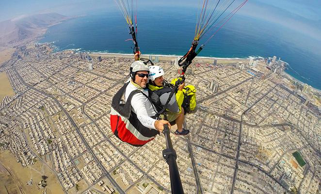 volar en parapente en Iquique