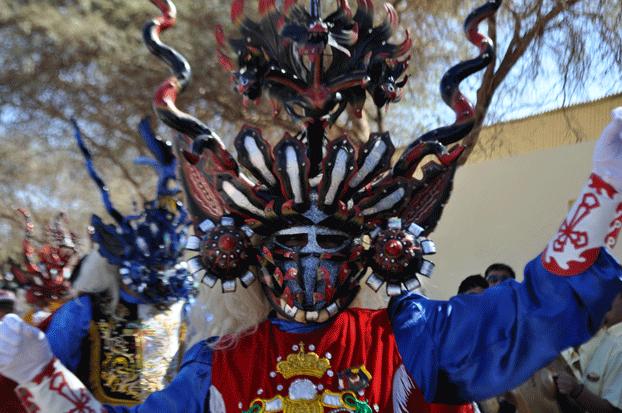 Máscara en fiesta La Tirana