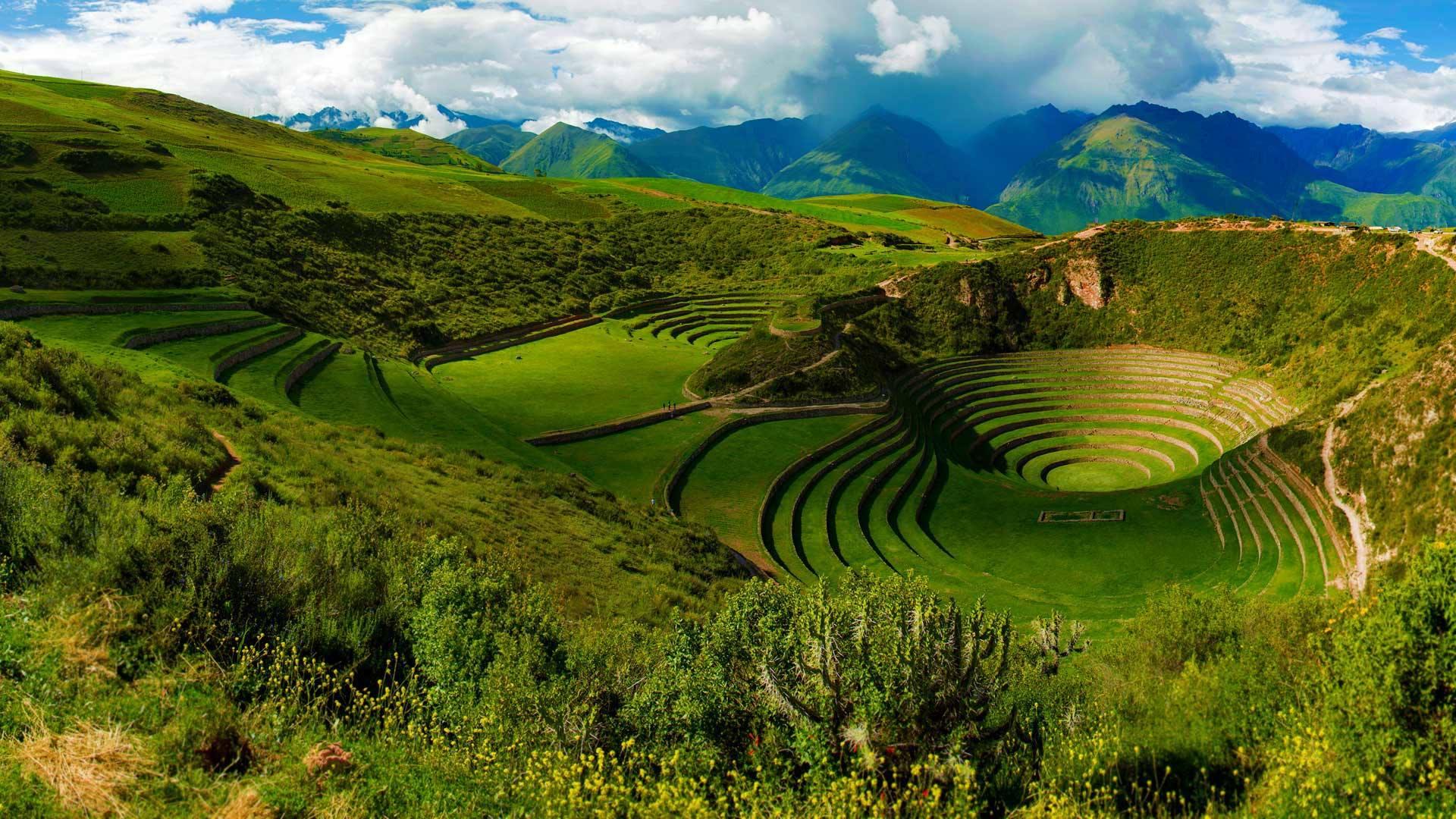 Terrazas arqueologicas de los incas