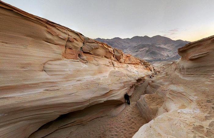 Quebrada en el desierto