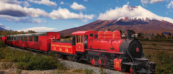 Tren rojo por la avenida de los volcanes
