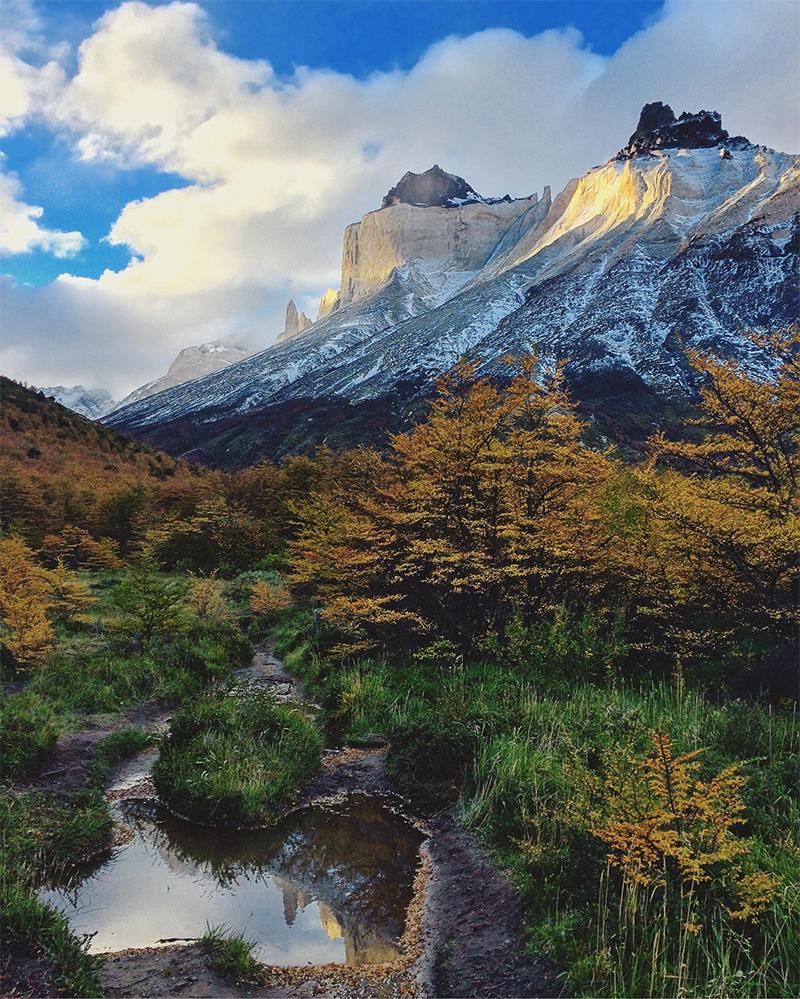 Montañas y los colores del otoño