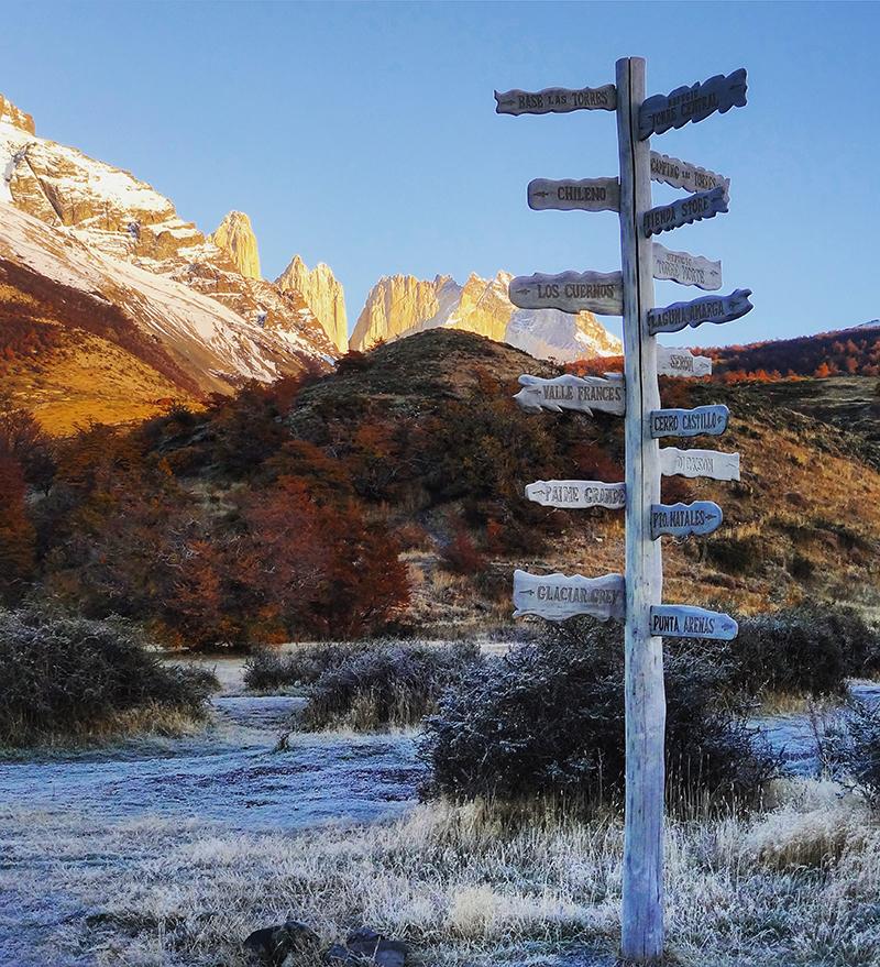 Direcciones en Parque Nacional