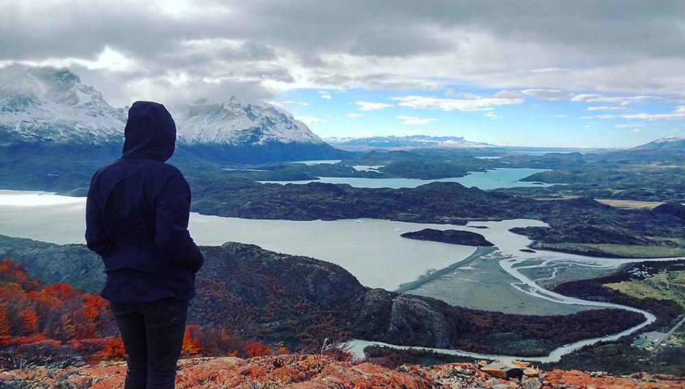 Mirador en la Patagonia