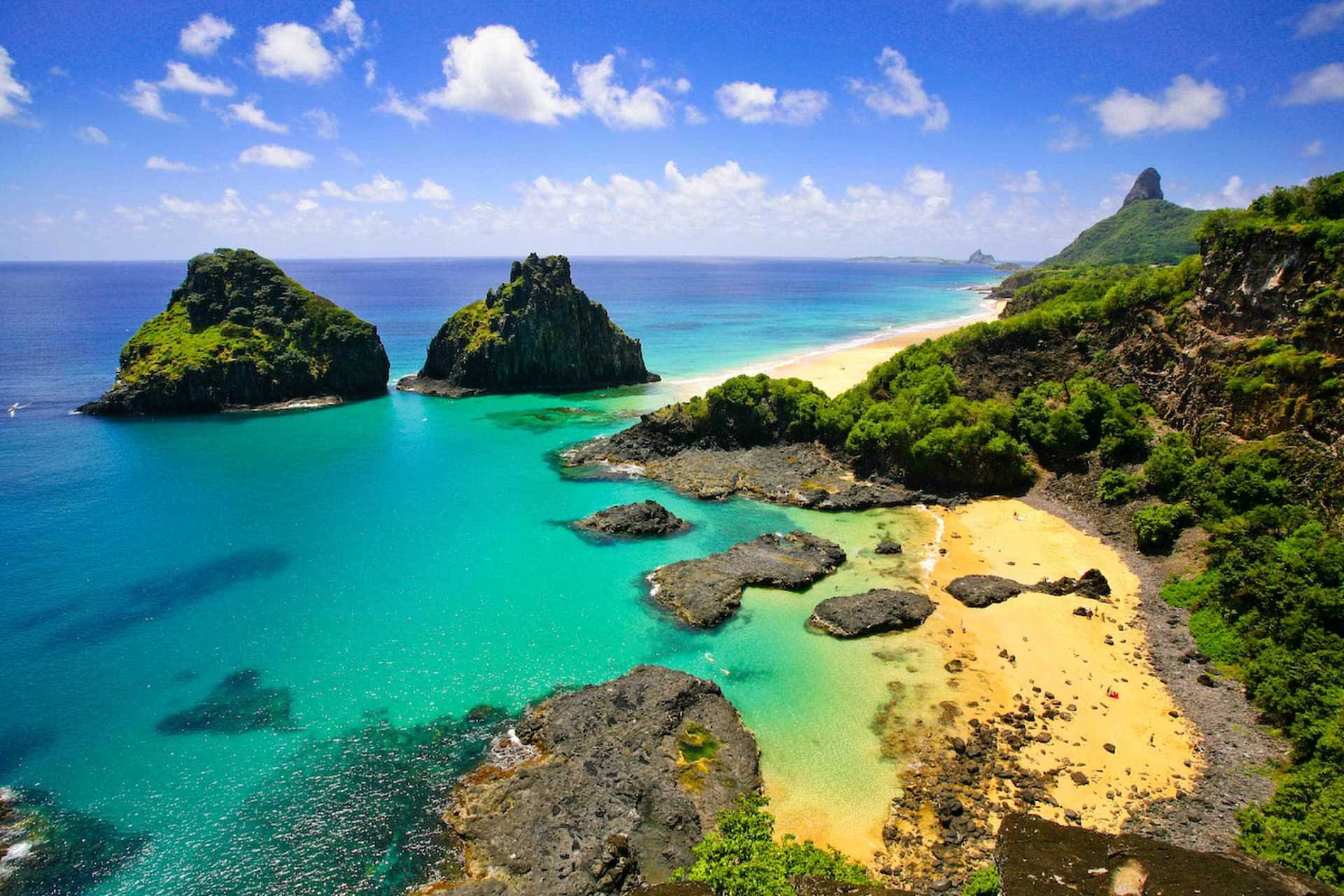 Playas de color turquesa en brasil