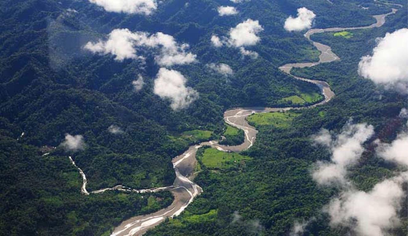 Selva peruana desde el aire