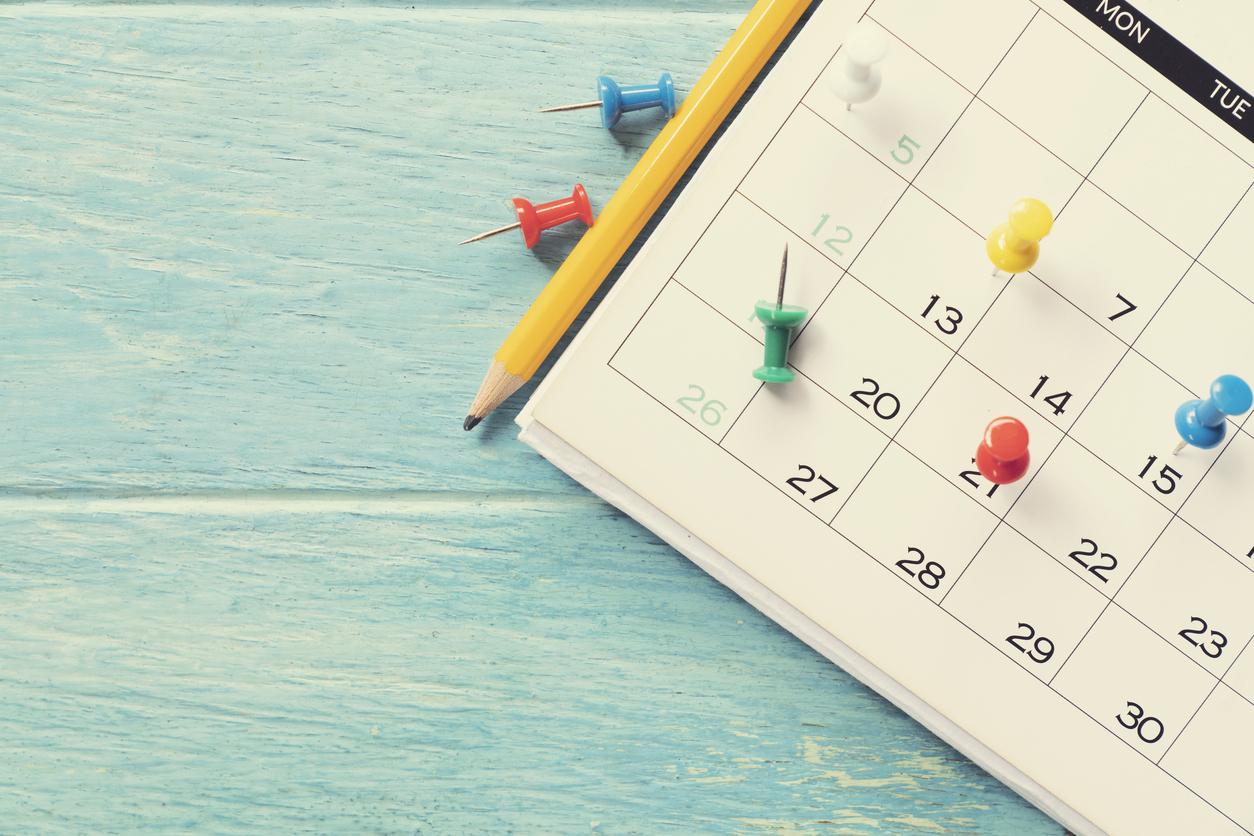 Calendario con pins