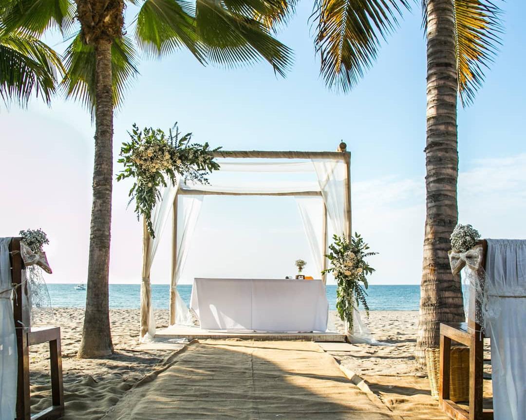 Casamiento frente a la playa