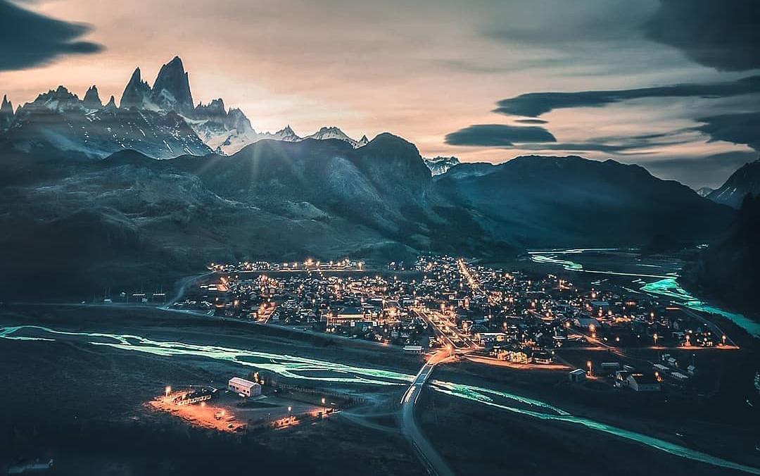 Ciudad el Calafate en la patagonia argentina