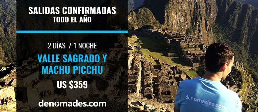 Reserva Valle Sagrado y Machu Picchu 2 días.