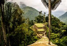 Ruinas arqueológicas de la Ciudad Perdida en Colombia