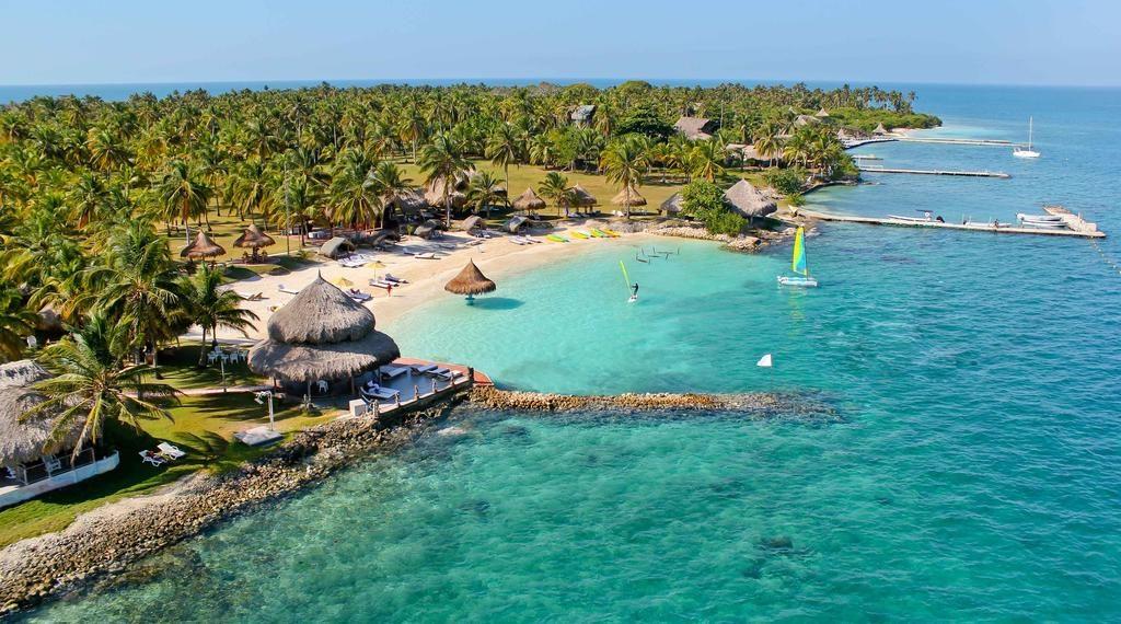 Islas de Cartagena en fotografía capturada desde el aire