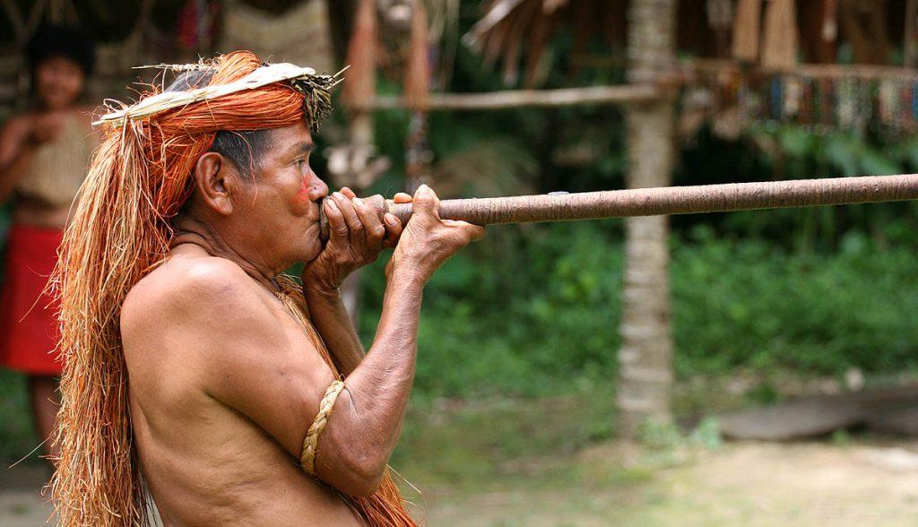 Hombre de pueblo originario de Iquitos