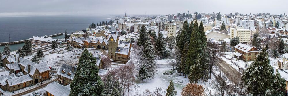 Ciudad de Bariloche nevada
