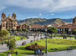 Centro de una ciudad colonial