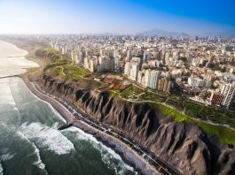 Ciudad de Lima desde las alturas