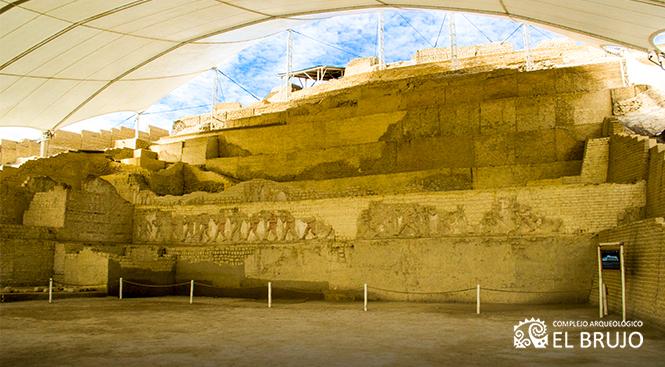 Complejo arqueológico de barro en la ciudad de trujillo
