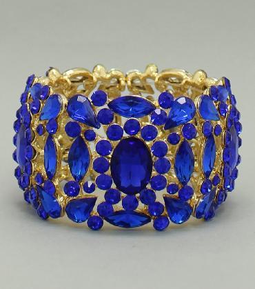 Blue Wide Bracelet image 1