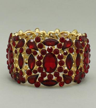 Red Wide Bracelet image 1