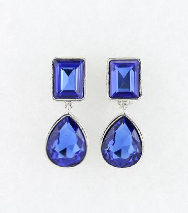 Blue Clip On Earrings image 1