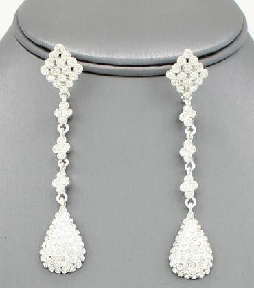 Clear Crystal Teardrop Earrings image 1