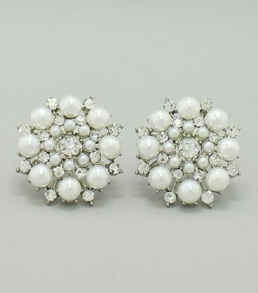 Pearl Clip On Earrings image 1