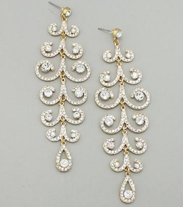 Clear Drop Pageant/Bridal Earrings image 1