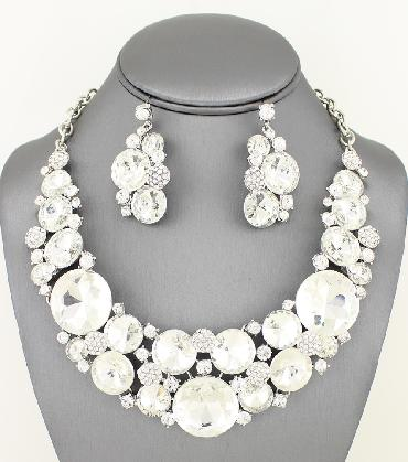 Clear Statement Necklace Set image 1