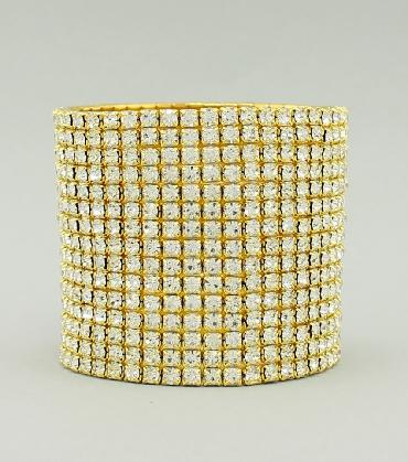 Oversized Clear/Gold Pageant Bracelet image 1