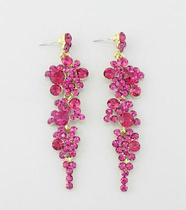 Pink Drop Earrings Hot pink/fuschia earrings image 1