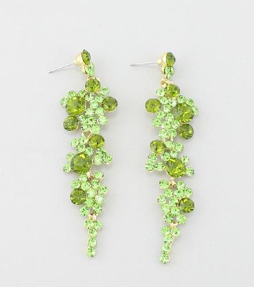 Green Dangle Earrings image 1