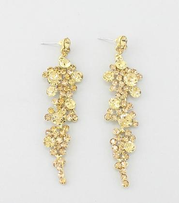 Gold Dangle Earrings image 1