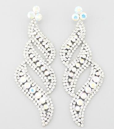 OVersized AB/Clear Statement Earrings image 1