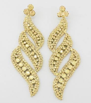 Gold Large Earrings image 1