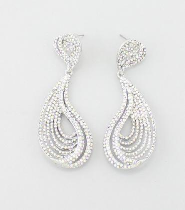 AB Rhinestone Earrings image 1