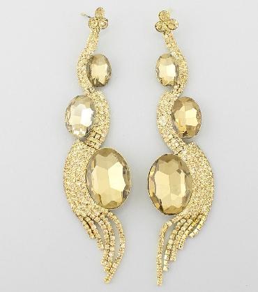 Gold Long Earrings image 1