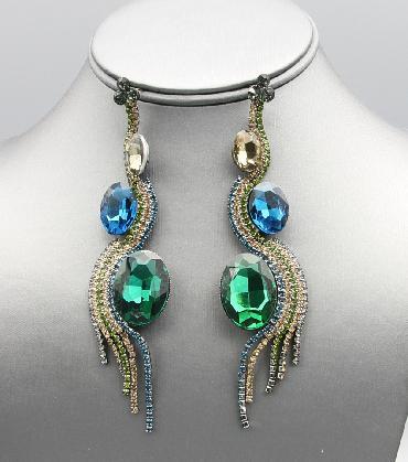 Multi Color Dangle Earrings image 1