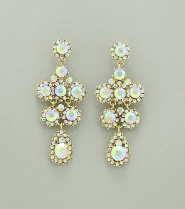 AB/Gold Earrings image 1