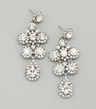 Clear Dangle Earrings image 1