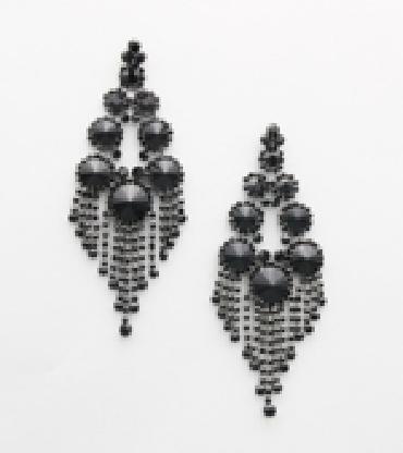 Black Oversized Earrings image 1