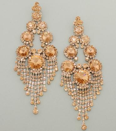 Peach Oversized Earrings image 1