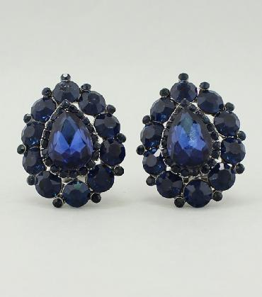 Navy Clip On Earrings image 1