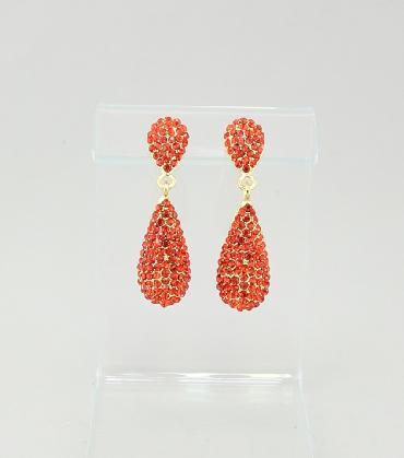 Red Rhinestone Earrings image 1