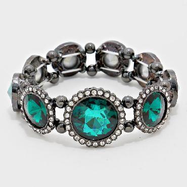 Emerald Green Stretch Bracelet image 1