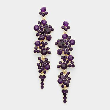 Purple Dangle Earrings image 1