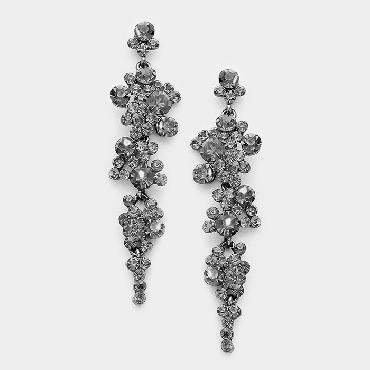 Gunmetal Black Dangle Earrings image 1